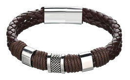 Bracelet .H-Tribal Cuir