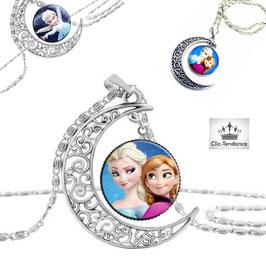 Collier Enfant Reine des Neiges Elsa & Anna