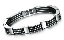Bracelet Homme Black Steel
