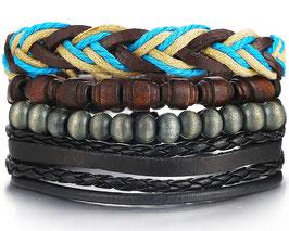 Bracelet Cuir Blue Lagon