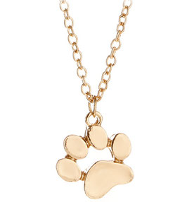 Collier Enfant Empreinte de chat Or