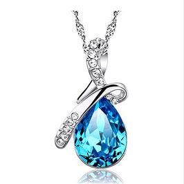 Collier Femme Cristal Blue