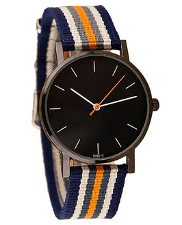 Montre Tissu Jungle City - Orange