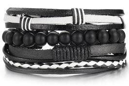 Bracelet Cuir I'Black & I'White