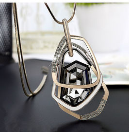 Sautoir Hypnotic Cristal - Black/Or