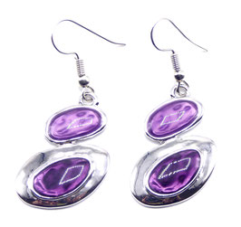 Boucles d'Oreilles Fantaisie Crazy Circle Purple