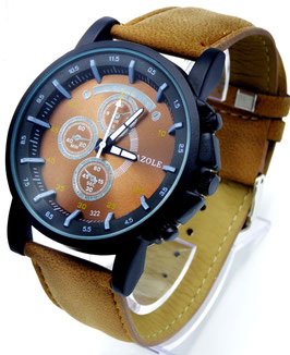 Montre Design Yaz Brune