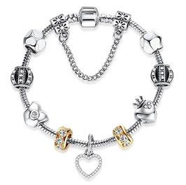Bracelet Charm'S  N5 Gold - Argent Plaqué