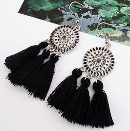 Boucles d'Oreilles Hippy Black
