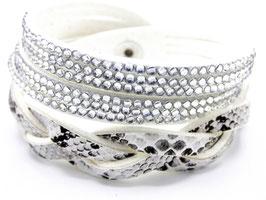 Bracelet Femme Snake White