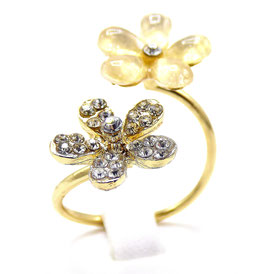 Bague Fantaisie Two Flowers
