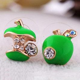 Boucles d'Oreilles Fantaisie Green Apple