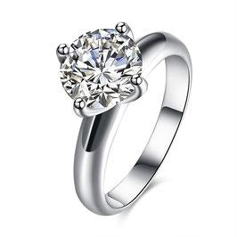 Solitaire Romantic Cristal  - Argent
