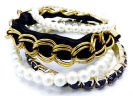 Bracelet Femme Multi Black & Golden