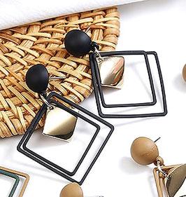 Boucles d'Oreilles Gold Square