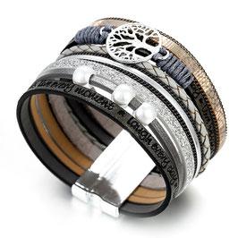 Bracelet Femme Arbre de Vie - Brown