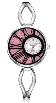 Montre Femme Luxure  & Passion - Silver Pink