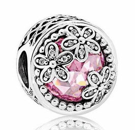 Charm Hippie Flowers Pink