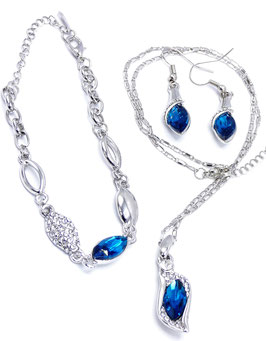 Parure Love Colors Bleu Saphir - Or 18K