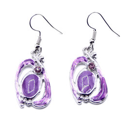 Boucles d'Oreilles Metal Fantaisie Purple