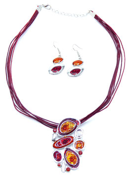 Collier  Crazy Circle Red