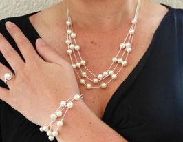 Parure Silver Perle