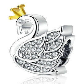 """Charm Cygne Couronne d'Or """"Excp"""""""