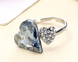 Bague Blue Love Cristal