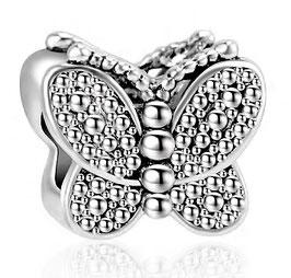 Charm Papillon d'Argent