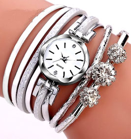 Montre Femme  Silver White Casual