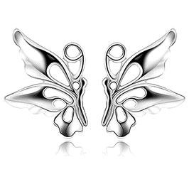 Boucles d'Oreilles Enfant Butterfly Argent