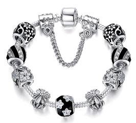 Bracelet Charm'S Paris - Argent Plaqué