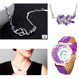 Collection Cristal Purple - Argent