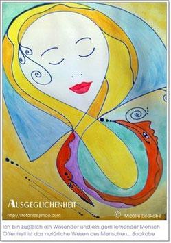 Ausgeglichenheit - Kunstdruck von MICELRO BOAKOBE KÜNSTLERNAME VON SYLVIA ALEXANDRA OCHENKOWSKI