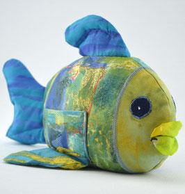 Fisch- Blau/Gelb