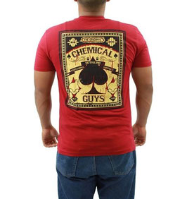 Chemical Guys T Shirt Red Spades