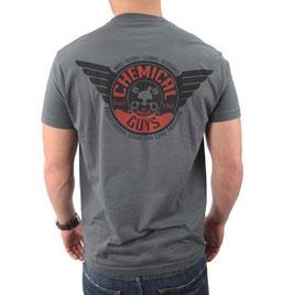 T Shirt Sharp Shop grau/rot