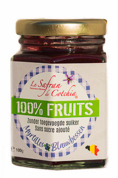 B. CONFITURE 100 % FRUITS SANS SUCRE AJOUTE 100 GR: MYRTILLE