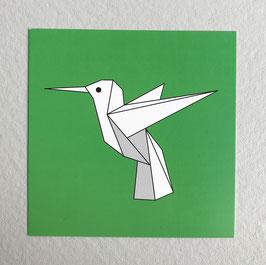 Carte origami Colibri
