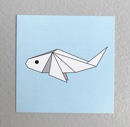 Carte origami Fish