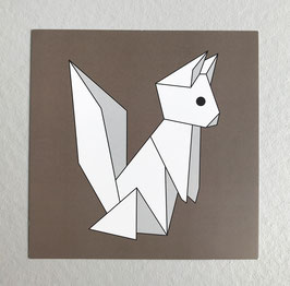 Carte origami Squirrel