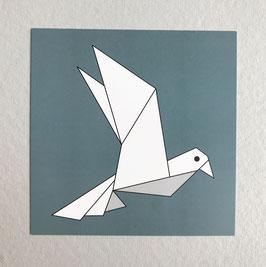 Carte origami Bird