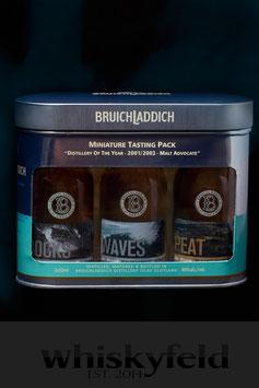 Bruichladdich Rocks Waves Peat Set Miniatur Collection 3x50ml 0,15l 46,0 % Vol