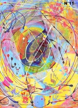 "Carte postale vibratoire ""Univers"""