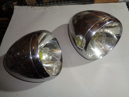 Bugatti 57: Marshall Lampen vorne / Marshall Lamps front.