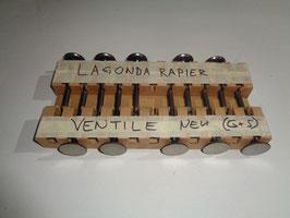 Lagonda Rapier: Ein & Auslassventile / Inlet & Exhaust Valves.