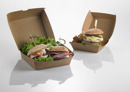 scatola hamburger , dimensioni 16x16x9