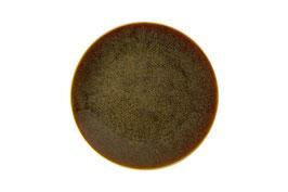Art Glaze - Flamed Caramel COUPE PLATE (10.75IN/27.3CM), CONFEZIONE 1PZ.