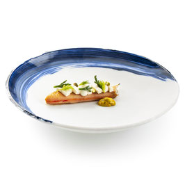 OIA GLASS DEEP PLATE 25CM  , 1PZ.