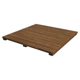 Piano in legno d'Acacia.